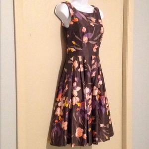 H&M floral dress lavender, coral and cream sz 2 HP